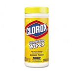 Disinfectant Wipes - Clorox Lemon Scent Professional Disinfecting 35 Wipe Canister - (12 Canisters per case)