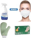 Virex, Vinyl Gloves, KN95 Mask, Microfiber Mit, Rubbermaid, Safety Zone
