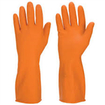 Galaxy Orange Flock-Lined Medium & Large Gloves - One Dozen