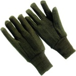 Jersey Type Brown Gloves - One Dozen