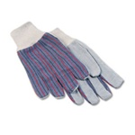 Leather Palm Knit Wrist Gloves - One Dozen