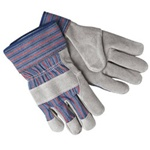 Leather Palm Gloves with Safety Cuff - One Dozen