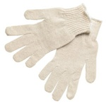 String Knit Wrist Cotton Gloves - One Dozen