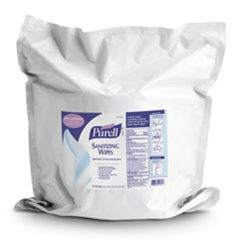 Wipes - Purell Sanitizing Wipe Refill 1200 Count - 2 Pouches per case