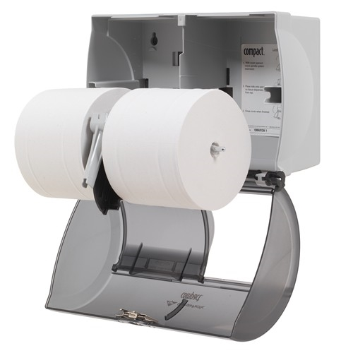 Bathroom Tissue gp compact® translucent smoke side-by-side double roll bathroom