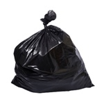 "High Density Trash Bag, 24""x24"", 6 Micron, Black, Medium Grade, 10 Gallon Capcity, 1000/CS"
