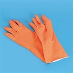 Galaxy Orange Flock-Lined Large Gloves -  One Dozen