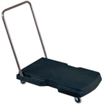 "Rubbermaid 4400 Triple® Trolley, Utility Duty with Straight Handle and 3"" (7.6 cm) Casters"